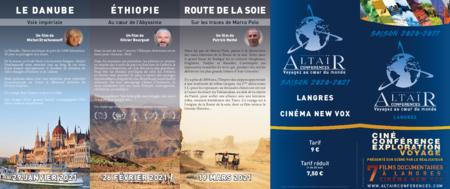 Téléchargez le programme de Altaïr Conférences !! Saison 2020 / 2021