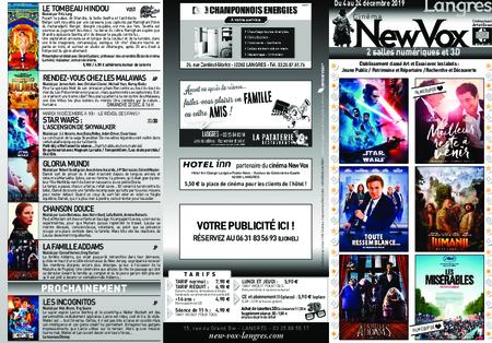Téléchargez le nouveau programme de votre cinéma !!