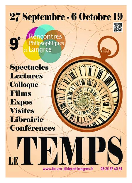 Téléchargez le programme des RPL 2019 - LE TEMPS